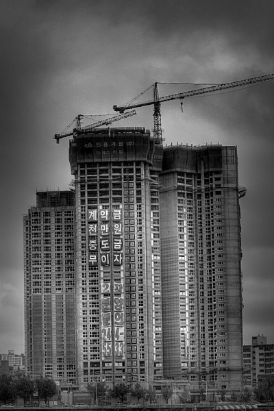 building construction black and white