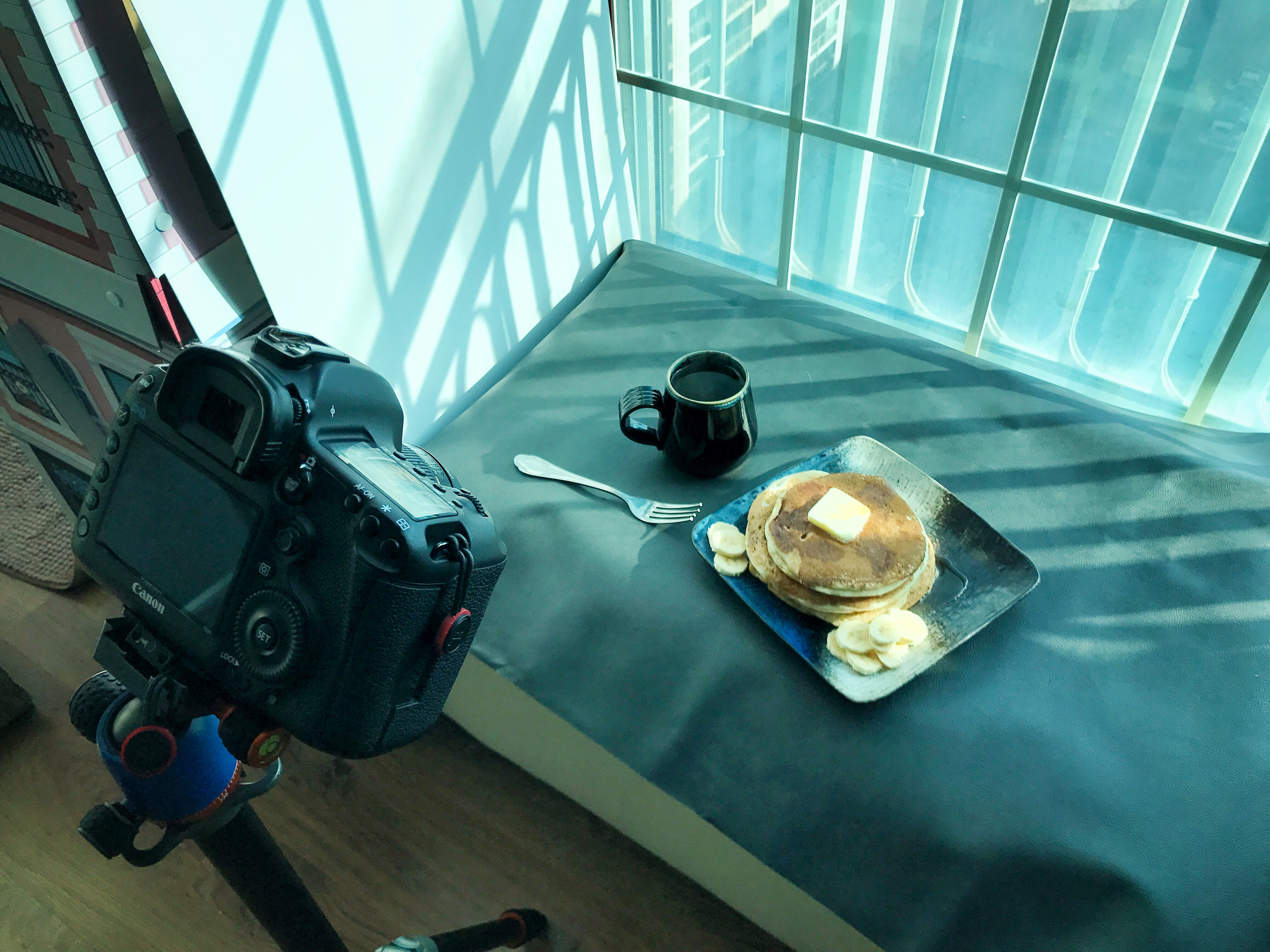 home food photography set up