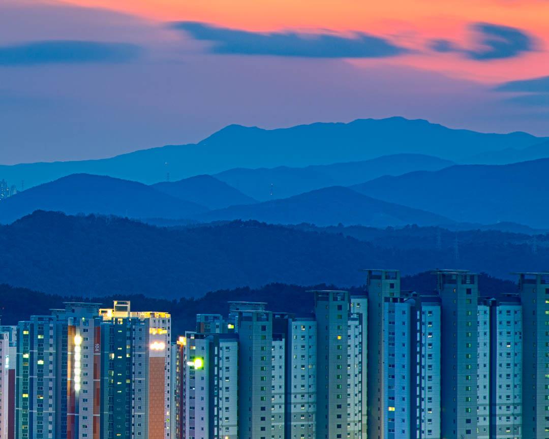 layers of urban development in Ulsan